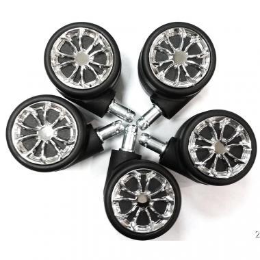 Набор колёсиков для игровых геймерских кресел D60 хром