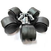 Черный прорезиненные ролики для офисных и компьютерных кресел D50