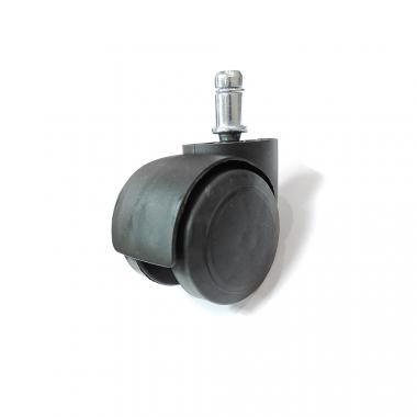 Черные прорезиненные ролики для офисных и компьютерных кресел D50