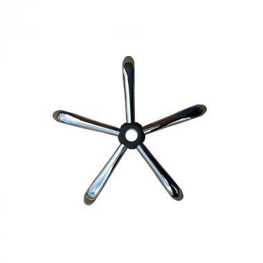 Крестовина стальная для офисного кресла D600 хром
