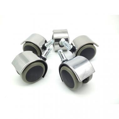 Хромированные ролики для кресел паркет/ламинат 5 шт.